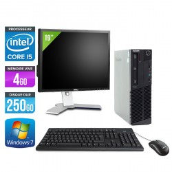 Lenovo ThinkCentre M91P SFF + Ecran 19''