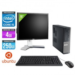 Dell Optiplex 390 Desktop - Ubuntu / Linux + Ecran 19''