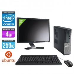 Dell Optiplex 390 Desktop - Ubuntu / Linux + Ecran 20''
