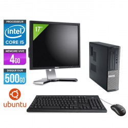 Dell Optiplex 390 Desktop - Ubuntu / Linux + Ecran 17''
