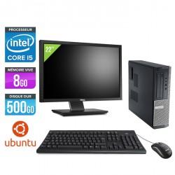 Dell Optiplex 390 Desktop - Ubuntu / Linux + Ecran 22''