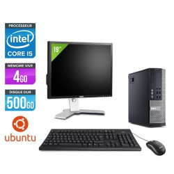 DELL Optiplex 7010 SFF - Ubuntu / Linux + Ecran 19''