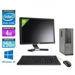 Dell Optiplex 7010 SFF - Windows 10 - Ecran 20''