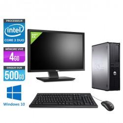 Dell Optiplex 780 Desktop - Windows 10 + Ecran 22''