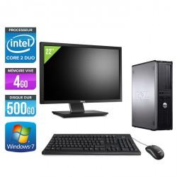 Dell Optiplex 780 Desktop + Ecran 22''