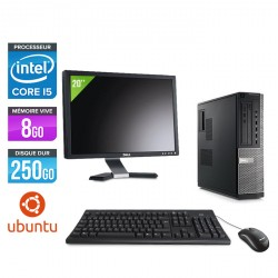 Dell Optiplex 790 Desktop - Ubuntu / Linux + Ecran 20''