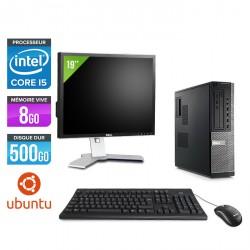 Dell Optiplex 790 Desktop - Ubuntu / Linux + Ecran 19''