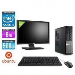 "Dell Optiplex 790 Desktop - Ubuntu / Linux + Ecran 22"""