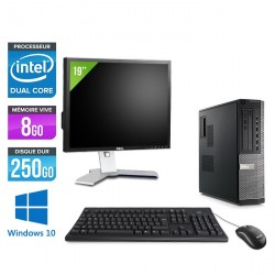 Dell Optiplex 790 Desktop - Windows 10 + Ecran 19''