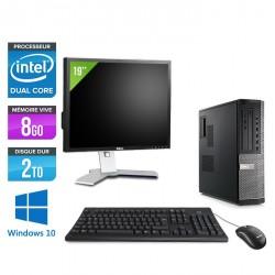 Dell Optiplex 790 Desktop - Windows 10 + Ecran 19''