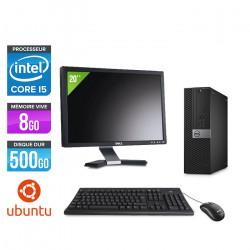 Dell Optiplex 7040 SFF - Ubuntu / Linux + Ecran 20''