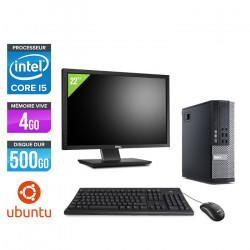 "Dell Optiplex 9010 SFF - Ubuntu / Linux + Ecran 22"""