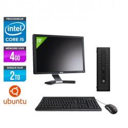 HP ProDesk 600 G2 SFF - Ubuntu / Linux + Écran 20''