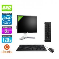 HP ProDesk 600 G2 SFF - Ubuntu / Linux + Écran 19''