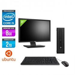 HP ProDesk 600 G2 SFF - Ubuntu / Linux + Écran 22''
