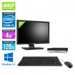 "HP EliteDesk 800 G4 DM - Windows 10 + Écran 22"""