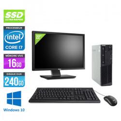 "Lenovo ThinkCentre M83 SFF - Windows 10 + Ecran 22"""