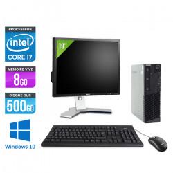 "Lenovo ThinkCentre M83 SFF - Windows 10 + Ecran 19"""