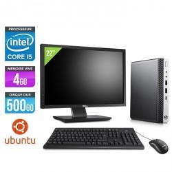 """HP EliteDesk 800 G3 DM - Ubuntu / Linux + Écran 22"""""""