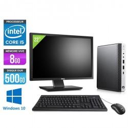 "HP EliteDesk 800 G3 DM - Windows 10 + Écran 22"""