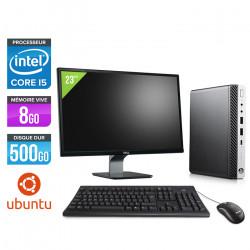 """HP EliteDesk 800 G3 DM - Ubuntu / Linux + Écran 23"""""""