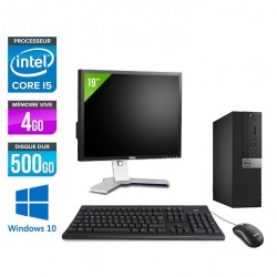 Dell Optiplex 7040 SFF - Windows 10 + Ecran 19''