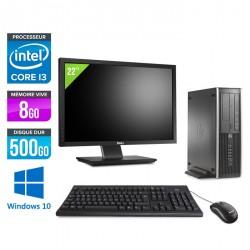 HP 6200 Pro SFF + Ecran 22'' - Windows 10