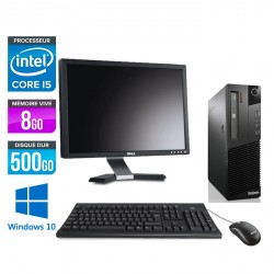 "Lenovo ThinkCentre M93P SFF - Windows 10 + Ecran 20"""