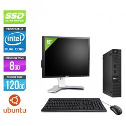 """Dell Optiplex 3020 Micro - Ubuntu / Linux + Écran 19"""""""
