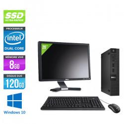 "Dell Optiplex 3020 Micro - Windows 10 + Écran 20"""