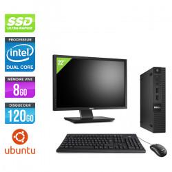 """Dell Optiplex 3020 Micro - Ubuntu / Linux + Écran 22"""""""