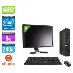 """Dell Optiplex 3020 Micro - Ubuntu / Linux + Écran 20"""""""