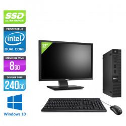 "Dell Optiplex 3020 Micro - Windows 10 + Écran 22"""