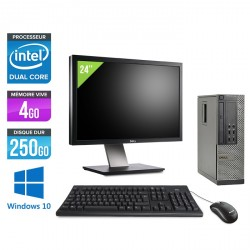 Dell Optiplex 7010 SFF - Windows 10 - Ecran 24''
