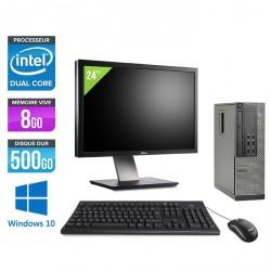 Dell Optiplex 7010 SFF - Windows 10 - Ecran 24''