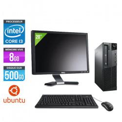 Lenovo ThinkCentre M81 SFF + Ecran 20'' - Ubuntu / Linux