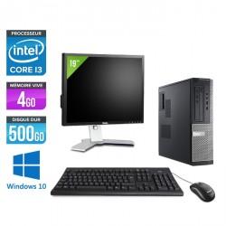 """Dell Optiplex 3010 Desktop + Ecran 19"""" - Windows 10"""