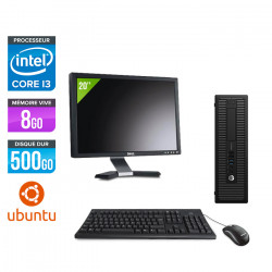 "HP ProDesk 600 G1 SFF - Ubuntu / Linux + Écran 20"""