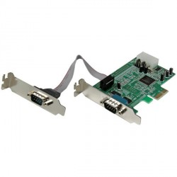 StarTech Carte PCI-E - PEX2S553LP - RS232 DB-9 16550 - Low Profile