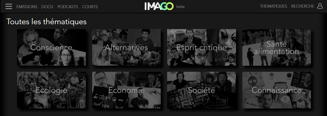 Visuel du site Imago