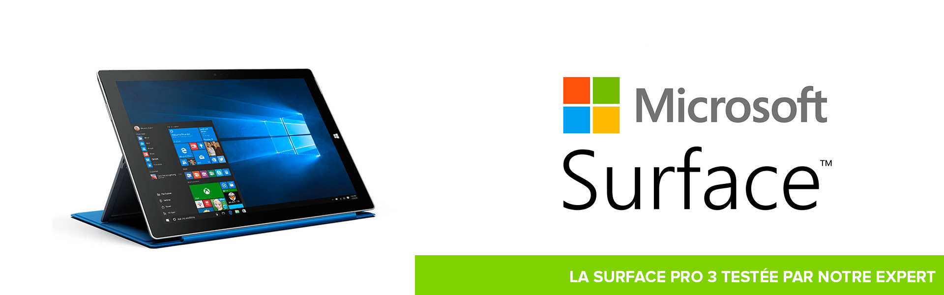 Surface pro 3 - banniere - Test du mois  Trade discount