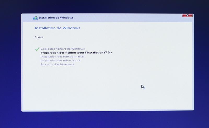 Choisissez le disque sur lequel installer windows 10