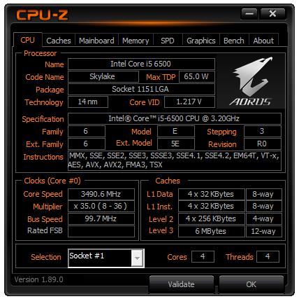 BenchMark CPU-Z