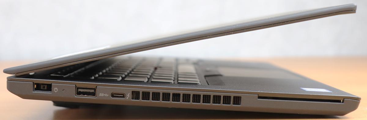 Lenovo ThinkPad T470 vu de côté