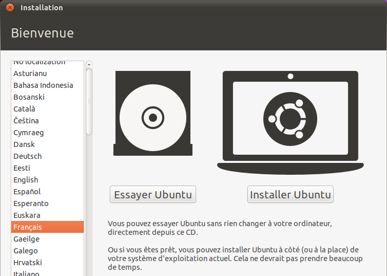 Installation Ubuntu